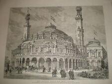 Le palais du peuple à East London 1886 OLD PRINT
