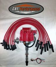AMC/JEEP 290,304,343,360,390,401 HEI DISTRIBUTOR RED + 8MM SILICONE PLUG WIRES