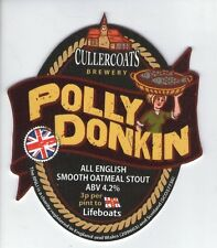 NEW UNUSED CULLERCOATS BREWERY - POLLY DONKIN OATMEAL STOUT - PUMP CLIP FRONT
