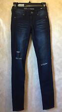 EMPYRE Logan Women's Jeggings Size 0 Dark Wash Distressed And Destroyed