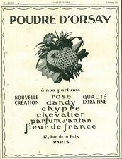 Publicité ancienne poudre d'Orsay Paris1925 issue de magazine