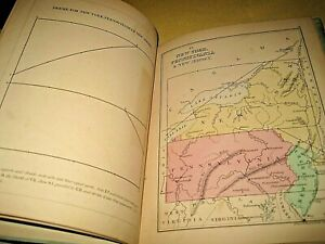 Mitchells Hand Book of Map Drawing School Geographies E H Butler 1869 Hand Color
