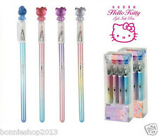 4 pcs/Lot hello kitty Princess Crystal cat head pen Gel pen 2017 New