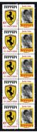 JACKY ICKX FERRARI F1 DRIVER STRIP OF 10 MINT VIGNETTE STAMPS 1