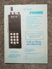 Vintage Advert SCI-15 MOBILE PHONE Original Vintage Magazine Advert 1980