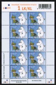 2004 Finland, Moomins sheet MNH.