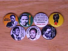 STEVE BIKO pins badges buttons stephen bantu Black Consciousness south africa