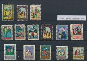 LO29232 India 1941 cinderella christmas seals fine lot MNH