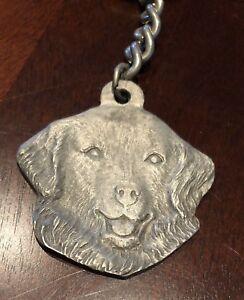 Rare Vintage Kuvasz Dog Rawcliffe Pewter Keychain Key Chain Poland Hungary