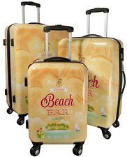 Betz Set di 3 valigie con la serratura TSA motivo HAWAII 2
