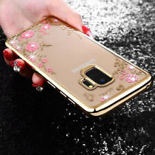 For Samsung Galaxy S9 Bling Glitter Diamond Gold Clear Soft Slim Thin Case Cover