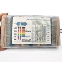 2600pcs 130 Values Metal Film Resistors Mixed Assortment Kit Supplies Kit Set