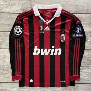 New! 2009 Adidas AC Milan Football Jersey David Beckham Long Sleeve Sz. M NWT