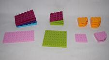 Lego Bricks Parts Flat Plates LOT OF 20 Friends Colors   #LX799