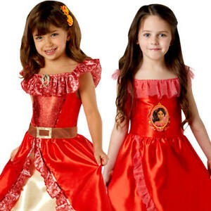 Princess Elena of Avalor Girls Fancy Dress Disney Childrens Kids Costume Outfit