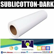 "SUBLICOTTON-DARK TRANSFER PAPER ROLL 15""x11 yds NEW"