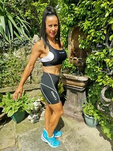 BNWT ~ WOMENS CRAFT BLACK PADDED TRIATHLON RUN BIKE CYCLING SHORTS ~ MEDIUM