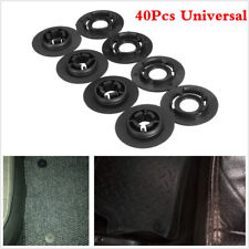 Black ABS 40PCS Car Carpet Mat Clips Floor Mat Mounting Fastener Retainer Clips