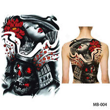 Einmal Tattoo Fake Tattoo  Geisha Skull Rockabilly Old School 45x32cm MB-004