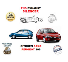 PARA PEUGEOT 106 1.0 1.1 1.3 1.4 1,5 1.6 SAXO 1.1 1,5 ESCAPE FINAL SILENCIADOR