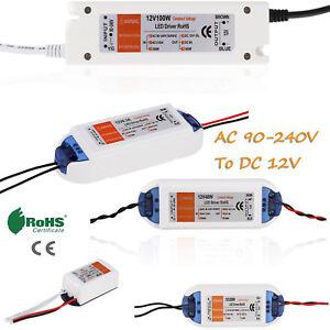 LED Driver Adapter AC 220V 240V To DC 12V Transformer Power Supply For LED Strip