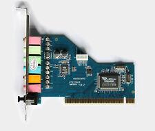SCHEDA AUDIO PROFESSIONALE DOLBY 7.1 PCI INTERNA - 8 CANALI DIGITAL SURROUND 3D