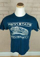 vintage 80s Penn State University t-shirt College Distressed Trashed Holes L