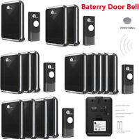 1Byone Wireless Doorbell Chime Waterproof Home 36 Melodies Ring LED Receivers