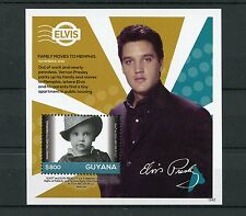 Guyana 2015 Mnh Elvis Presley His Life in Stamps 1v S/S Iv Memphis Celebrities