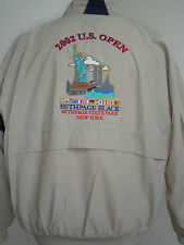 STARBUS 2002 US OPEN BETHPAGE BLACK NEW YORK TWIN TOWERS GOLF JACKET SIZE XXL