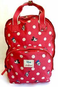 Cath Kidston Disney Mickey Mouse Backpack Red Polka Dot Friend Pocket Rucksack