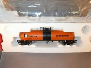 Atlas HO Hooker Chemicals 45' GATX 17,360 Gal Tank Car Orange/Black #HCPX 1265