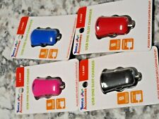 Lot of 4 Turtle Accessories Usb One slot Charger Car Auto New Phones Mp3