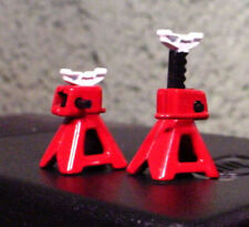 Jack Stands (2) Red Diecast Miniatures 1/24 1/18 G Scale Diorama Accessory