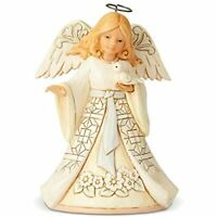 "Enesco Jim Shore Heartwood Creek White Woodland Angel Pint Sized Figurine, 5.5"""