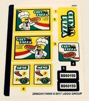 LEGO 60150 - Town: City: Traffic - Pizza Van - STICKER SHEET