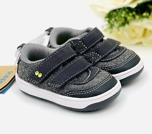 Stride Rite Baby Boy Sneakers Size 3 Casual Shoe Gray NEW! First Walkers