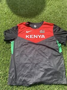 Nike Kenya Dri Fit Mens Large Running Shirt
