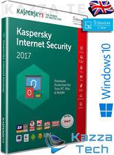 Kaspersky Internet Security 2017 5 User PC Multi-Device 1 Year UK RETAIL SEALED