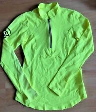 PHEEL CST 50  1/4 Zip Pullover Jacket size XS Yellow Green Cycle Run Gym