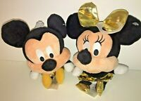 Disney MICKEY MOUSE & MINNIE GOLD Plüsch  Ca. 13 cm Micky Maus Kuscheltier
