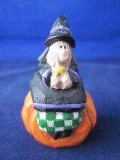 Eddie Walker Halloween Witch Sitting on Pumpkin Small Miniature ~ Excellent