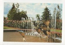 Sculptured Fountain Rose Garden Te Awamutu Waikato New Zealand Postcard 711a