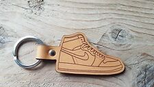 NIKE AIR JORDAN 1 LEATHER LUXURY KEYRING TAN BRAND NEW GIFT IDEA SNEAKER HYPE