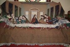 """Vintage """"The Last Supper"""" Cotton Classic By Chatham Jacquard Fringed Tapestry"""