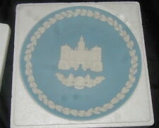 1978 Wedgwood Blue Jasperware Christmas Plate, Horse Guards, w Box, Papers