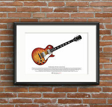 Mike Bloomfield's 1959 Gibson Les Paul Standard ART POSTER A3 size
