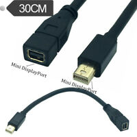 30cm Mini DisplayPort DP Male to Mini DP Female Extension Cable Adapter Cord