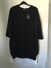 Black & White Short Sleeved Dress Tunic UK Size 6 S/M Monochrome