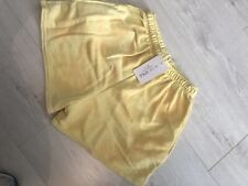 Womens Yellow Tye Dye In The Style Size 12 Runner Shorts With Pockets
